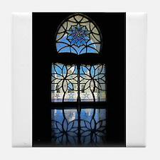 Mosque Foyer Window Tile Coaster