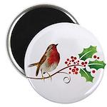 """Robin Christmas 2.25"""" Magnet (10 pack)"""