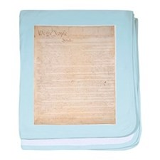 The Us Constitution baby blanket