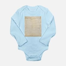 The Us Constitution Long Sleeve Infant Bodysuit
