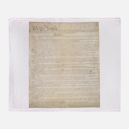 The Us Constitution Throw Blanket