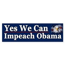 Yes We Can impeach Obama Stickers