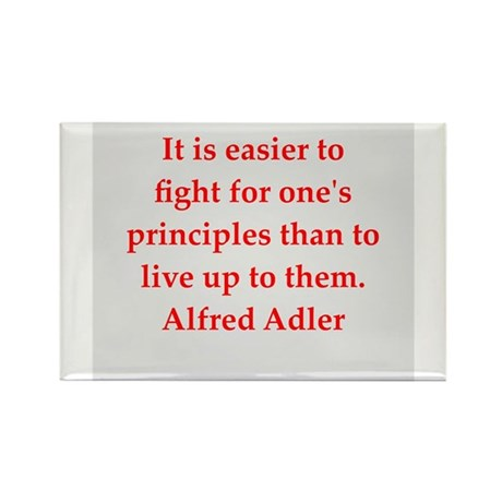 Alfred Adler quotes Rectangle Magnet (100 pack)