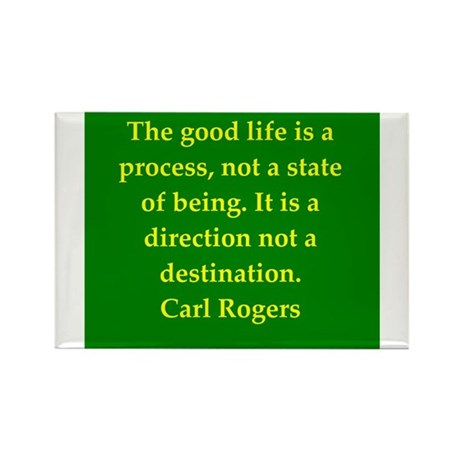 Carl Rogers quote Rectangle Magnet (100 pack)