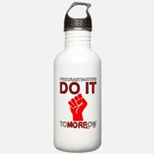 Procrastinators do it tomorro Water Bottle