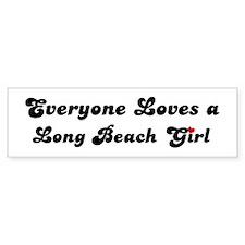 Loves Long Beach Girl Bumper Bumper Sticker