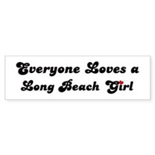 Loves Long Beach Girl Bumper Bumper Sticker