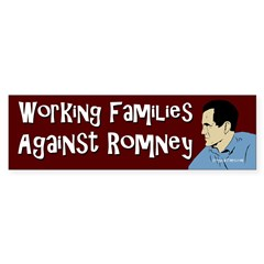 Working Families Against Romney sticker