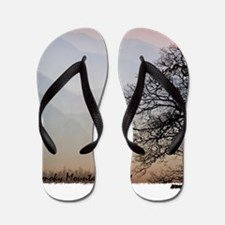 Smoky Mountain Sunset Flip Flops
