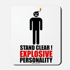 Stand clear! explosive person Mousepad