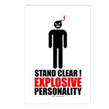 Stand clear! explosive person Postcards (Package o
