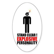 Stand clear! explosive person Decal