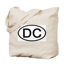 DC - Initial Oval Tote Bag