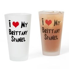 I Love My Brittany Drinking Glass