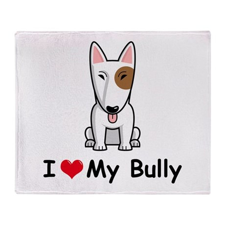 Bull Terrier Throw Blanket