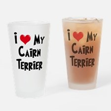 I Love My Cairn Terrier Drinking Glass