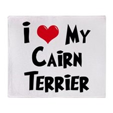 I Love My Cairn Terrier Throw Blanket