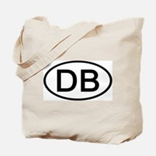 DB - Initial Oval Tote Bag