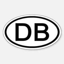 DB - Initial Oval Oval Decal