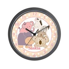 Girl Tropical Jungle Wall Clock - Saskia