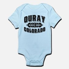 Ouray Since 1884 Black Infant Bodysuit