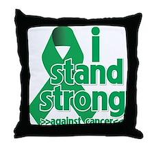 I Stand Liver Cancer Throw Pillow