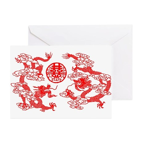 """Double Happiness"" Greeting Cards (Pk of"