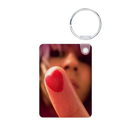 Love me Love my Finger Aluminum Photo Keychain