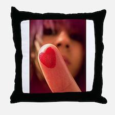 Love me Love my Finger Throw Pillow