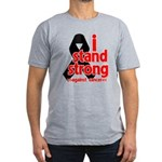 I Stand Strong Melanoma Men's Fitted T-Shirt (dark