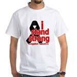 I Stand Strong Melanoma White T-Shirt