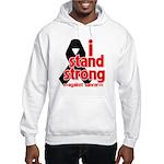 I Stand Strong Melanoma Hooded Sweatshirt