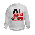 I Stand Strong Melanoma Kids Sweatshirt