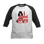 I Stand Strong Melanoma Kids Baseball Jersey