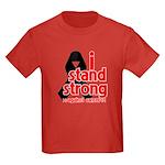 I Stand Strong Melanoma Kids Dark T-Shirt