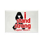 I Stand Strong Melanoma Rectangle Magnet (10 pack)