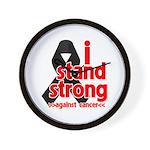 I Stand Strong Melanoma Wall Clock