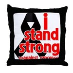I Stand Strong Melanoma Throw Pillow