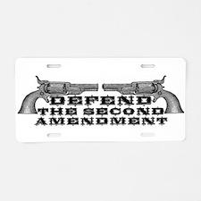 Defend the 2nd Amendment Aluminum License Plate
