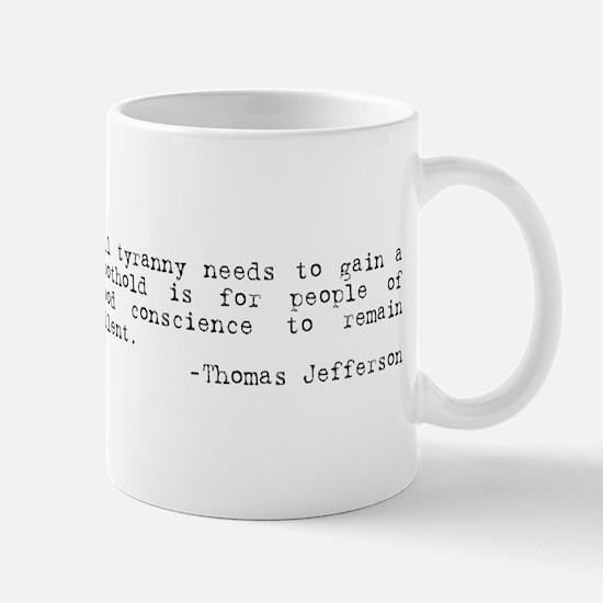 Thomas Jefferson on Tyranny Mug
