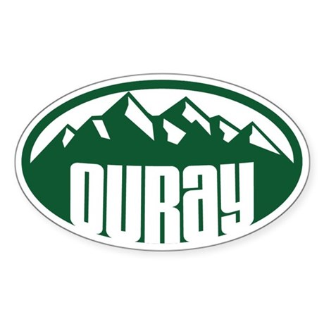 Ouray Colorado Sticker (Oval)