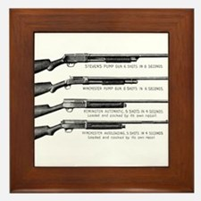 Shotguns Framed Tile