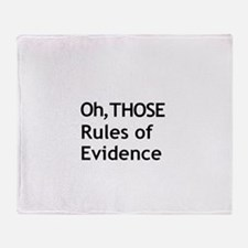Rules of Evidence 3 Throw Blanket