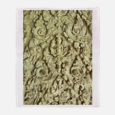Brahma in Stucco at Angkor Wa Throw Blanket