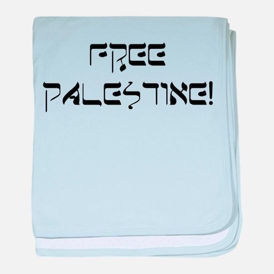Funny Free palestine baby blanket