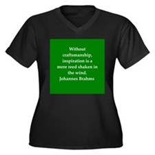 brahms quotes Women's Plus Size V-Neck Dark T-Shir