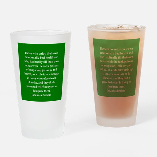 brahms quotes Drinking Glass