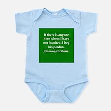brahms quotes Infant Bodysuit