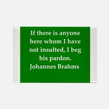 brahms quotes Rectangle Magnet
