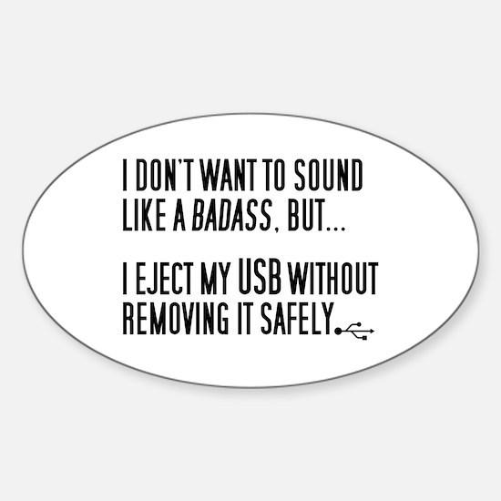 Badass USB Eject Sticker (Oval)